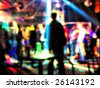 Club crowd shot. This vision of the person who is under alcoholic or narcotic intoxication. - stock photo