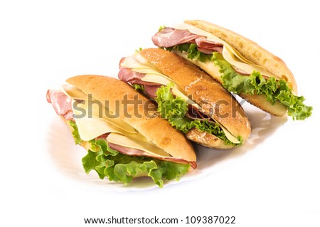 Club sandwich isolated on white