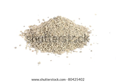 Clumping Cat Litter Isolated on White Background