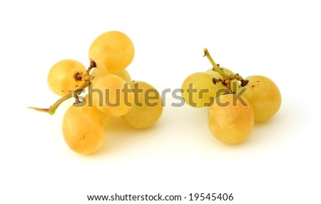 Cluster of grapes, isolated on white