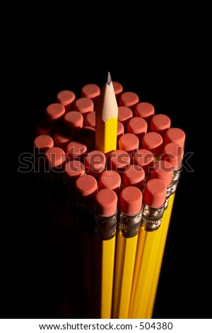 Cluster of pencils - stock photo