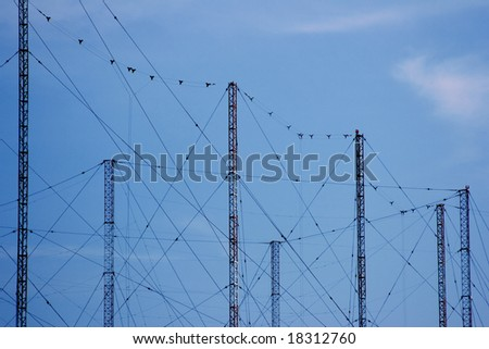 Cluster of radio power towers