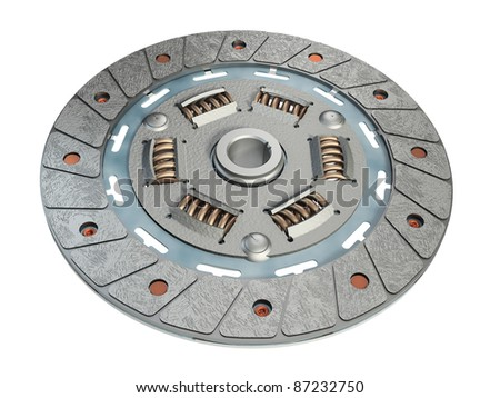 clutch disc, spare part - stock photo