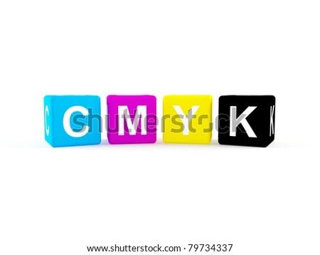 CMYK icon - stock photo