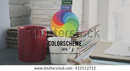 CMYK RGB Color Colorscheme Creativity Concept - stock photo