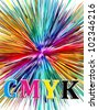 CMYK, the key element for the printing industry - stock vector