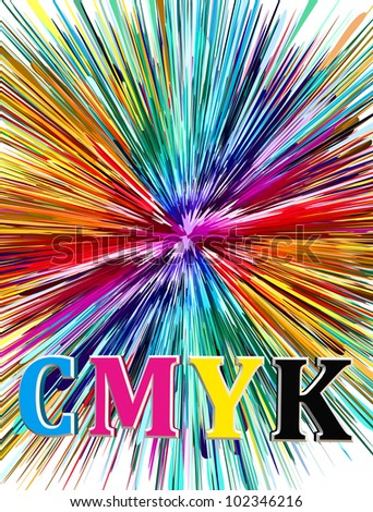 CMYK, the key element for the printing industry - stock photo
