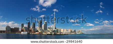cn tower, downtown toronto, ontario, canada - stock photo