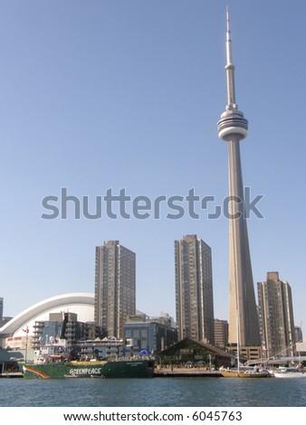 CN Tower in Toronto, Canada - stock photo