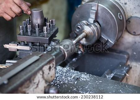 cnc metal milling machine - stock photo