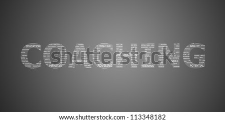 coaching concept word - stock photo