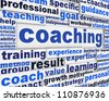 Coaching message conceptual design. Professional competences poster concept - stock