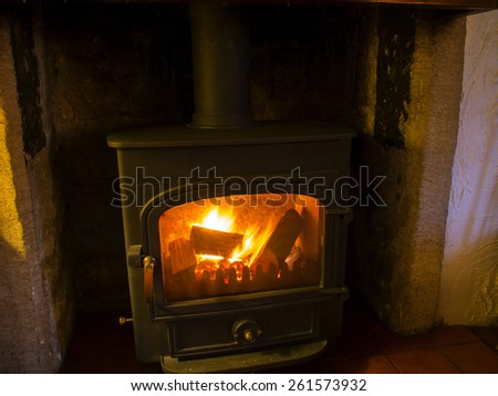 coal and wood fire stove