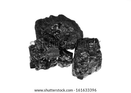 Coal background isolated