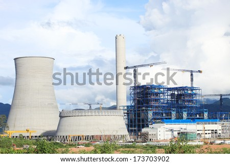 Coal fire power plant under construction.