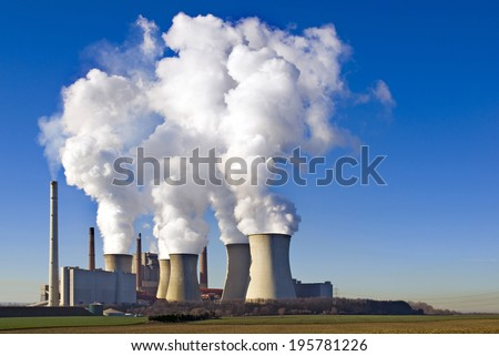 coal-fired power plant Neurath, Germany - stock photo