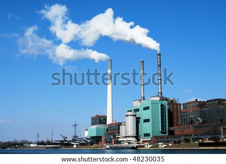 Coal fired power station in Germany