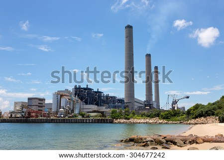 Coal-fired power station in Lamma Island