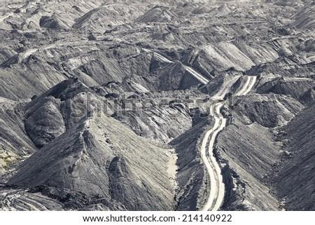 coal mine - stock photo