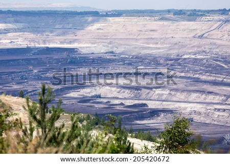 Coal mining and power station Belchatow, Poland - stock photo