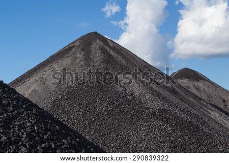 coal pile - stock photo