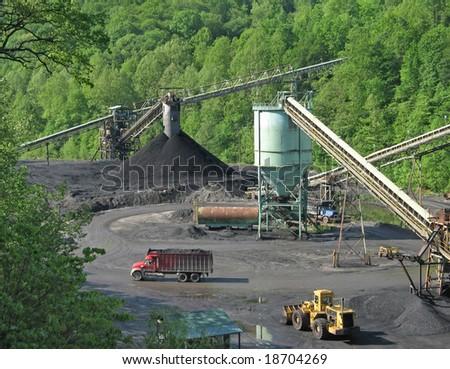 Coal processing facility in Kentucky - stock photo