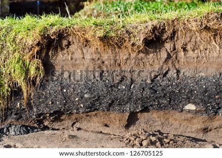 Coal shale layer soil profile stock photo 126705125 for Define soil composition