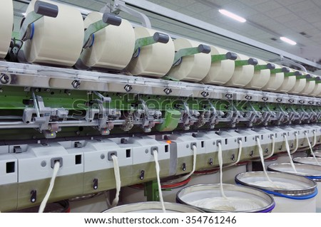 Coarse cotton factory in spinning production line