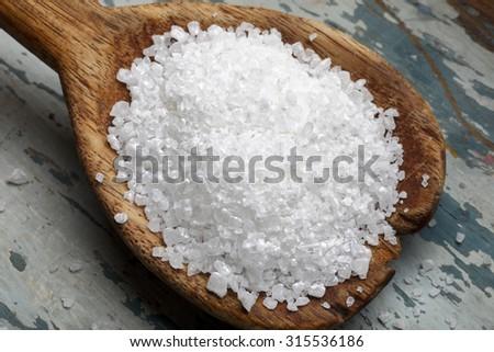 coarse salt - stock photo