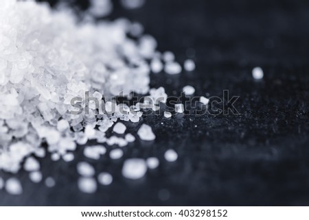 Coarse Salt (selective focus) as detailed close-up shot - stock photo