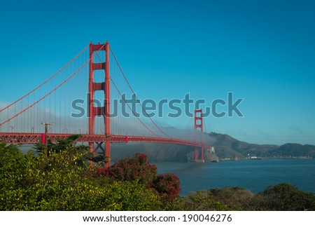 Coast around the Golden Gate Bridge