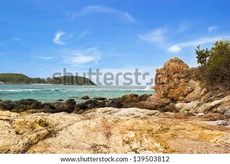 Coast at Tayai beach in Larn island - stock photo