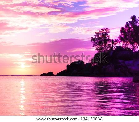 Coast Horizon Fantasy - stock photo