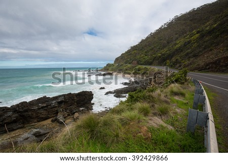 Coast line along Great Ocean Road, Australia