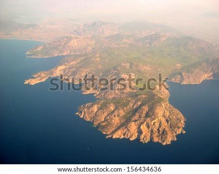 Coast line in Turkey, near Marmaris resort - stock photo