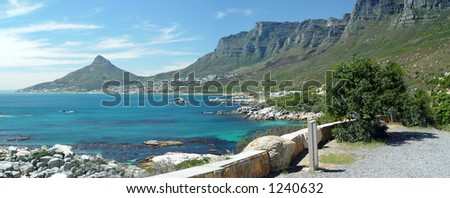 Coast near Cape Town, South Africa - stock photo