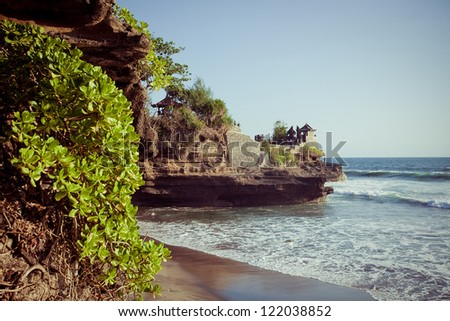 Coast of Indian ocean Bali, Indonesia - stock photo