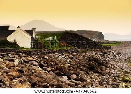 Coast of Ireland (Kerry country, Wild Atlantic Way ) - stock photo