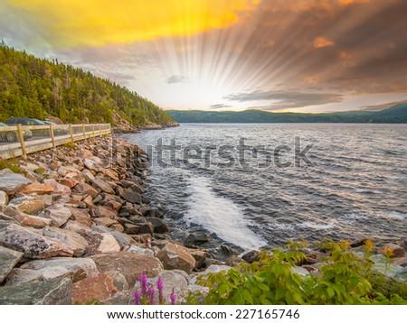 Coast of Quebec, Canada. - stock photo