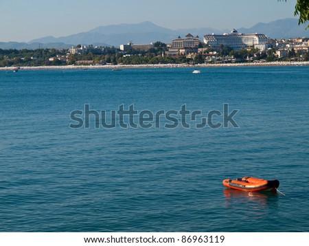 Coast of Side in Turkey - stock photo