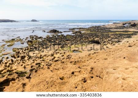 Coast of the Atlantic ocean, near Essaouira, Morocco - stock photo