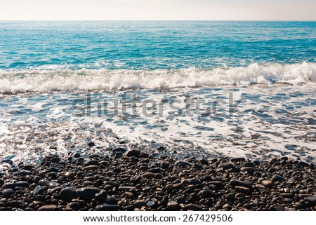 Coast of the Black Sea - stock photo