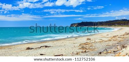 Coast of the Tasman sea. Panorama - stock photo