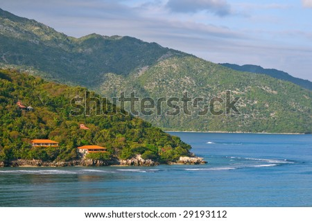 coast of tropical haiti