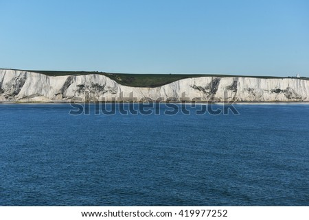 Coast view with amazing white clouds - stock photo