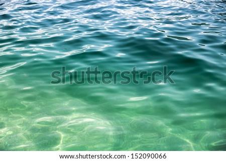 Coastal Adriatic sea water background texture - stock photo