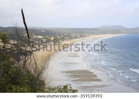 Coastal bay view - stock photo