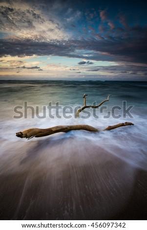 Coastal Dominican Republic beach - stock photo