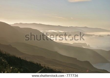 coastal haze - stock photo