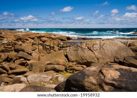 Coastal rocks - stock photo